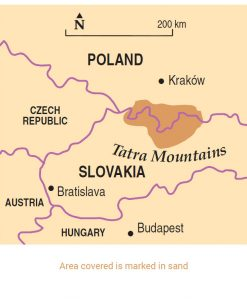 Tatra Mountains area map