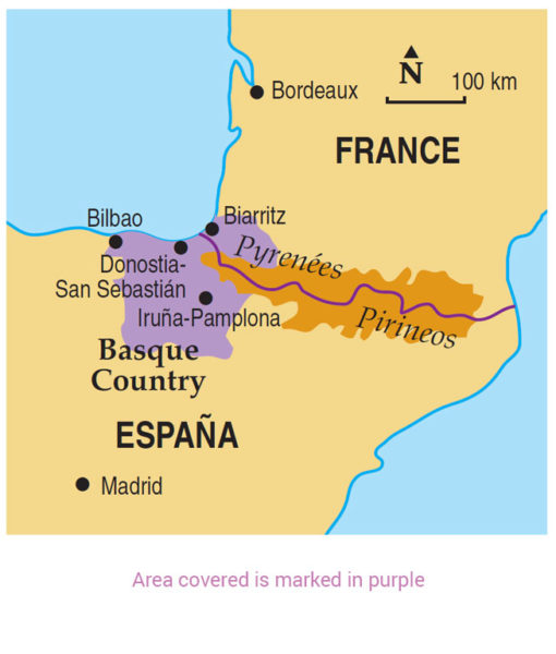 Basque area map