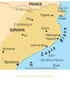 Costa Brava Area Map