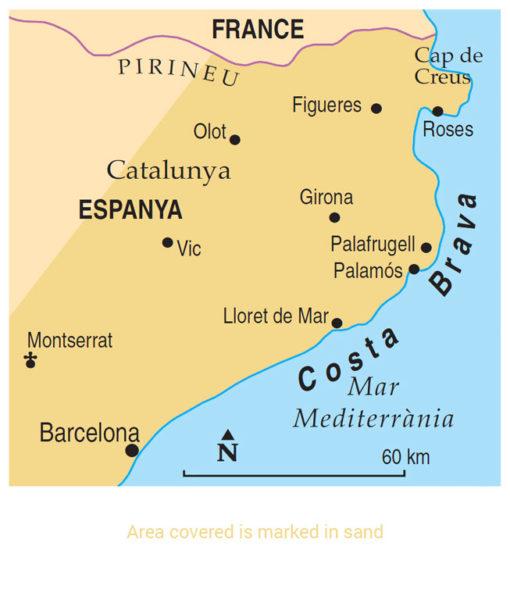 Costa Brava Area Map