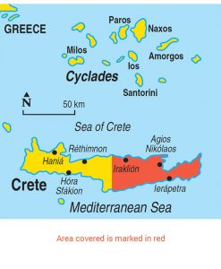 Eastern Crete Area Map