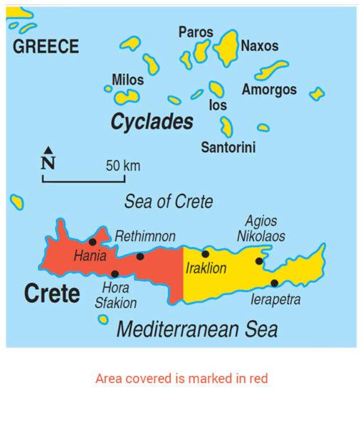 Western Crete Area Map
