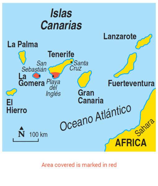 La Gomera map