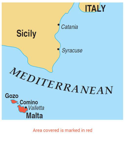 Malta Gozo area map