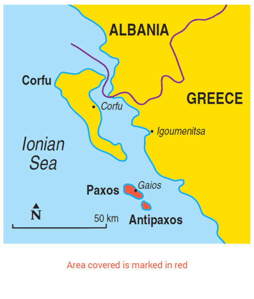 Paxos area map