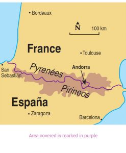 Pyrenees area map