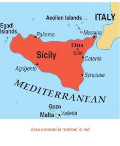 Sicily area map