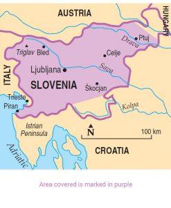 Slovenia area map