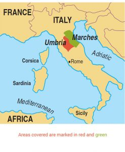 Umbria area map