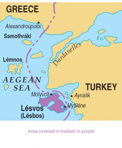 Lesvos area map