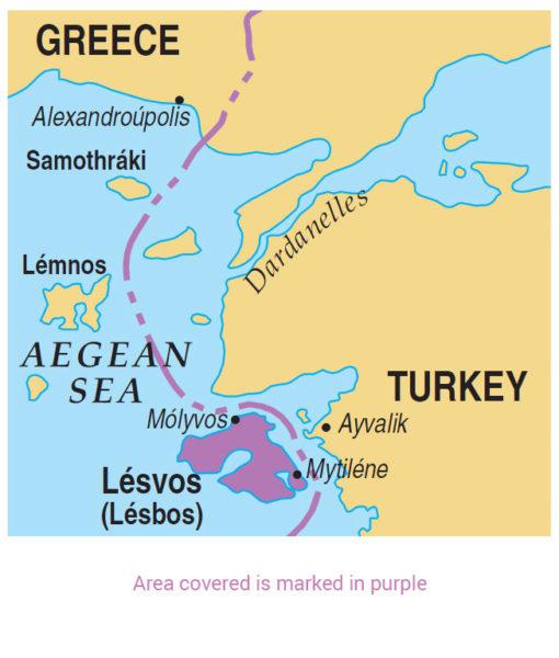 Lesvos area map