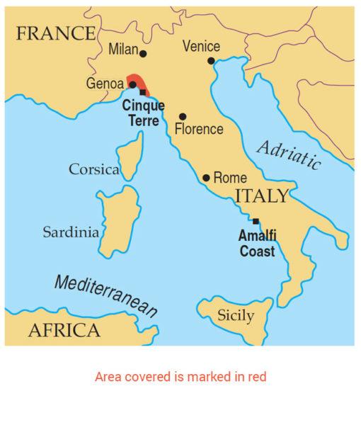 Cinque Terre area map